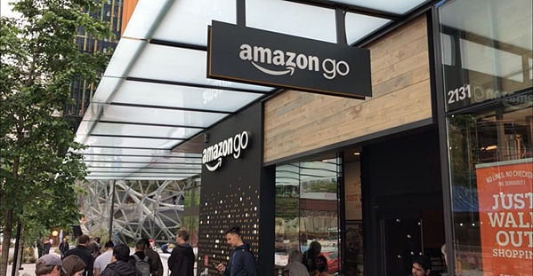 Amazon Go first Seattle store. Many stores will be incorporate IoT for a new way of shopping.
