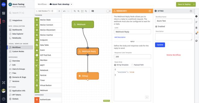 Losant Workflow Webhook Azure