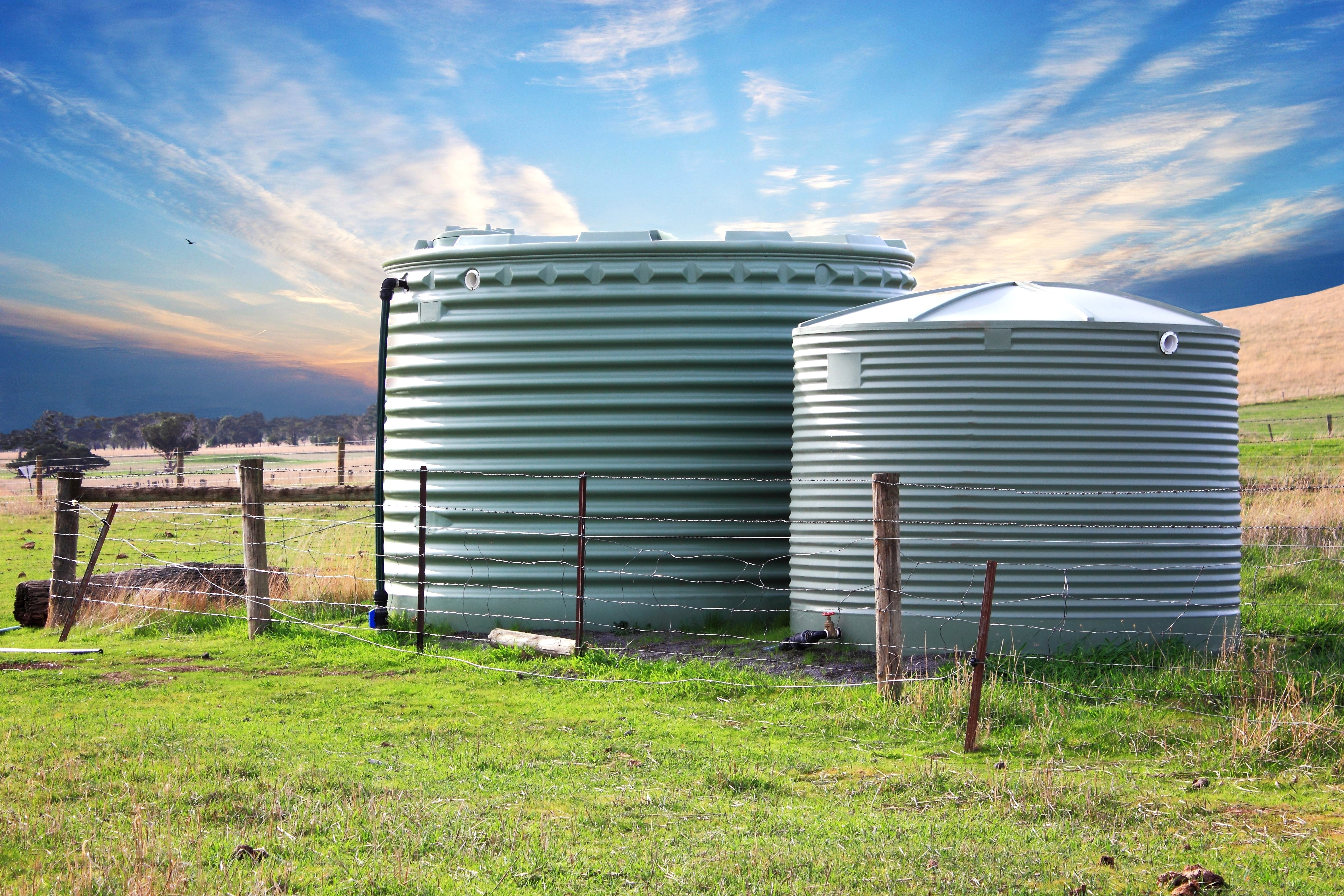 water tanks used for smart agriculture