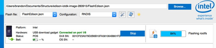 Edison Firmware Flash Progress
