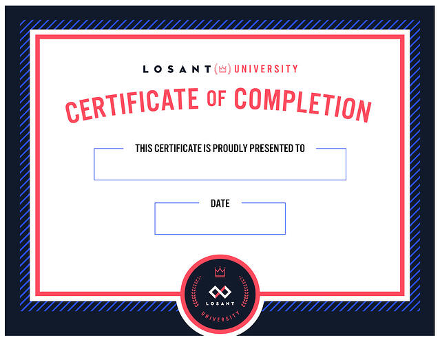 Losant U Certificate of Completion