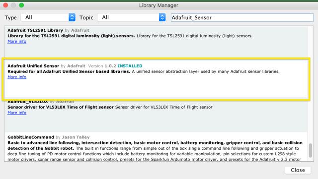 Lập trình điều khiển Adafruit_Sensor