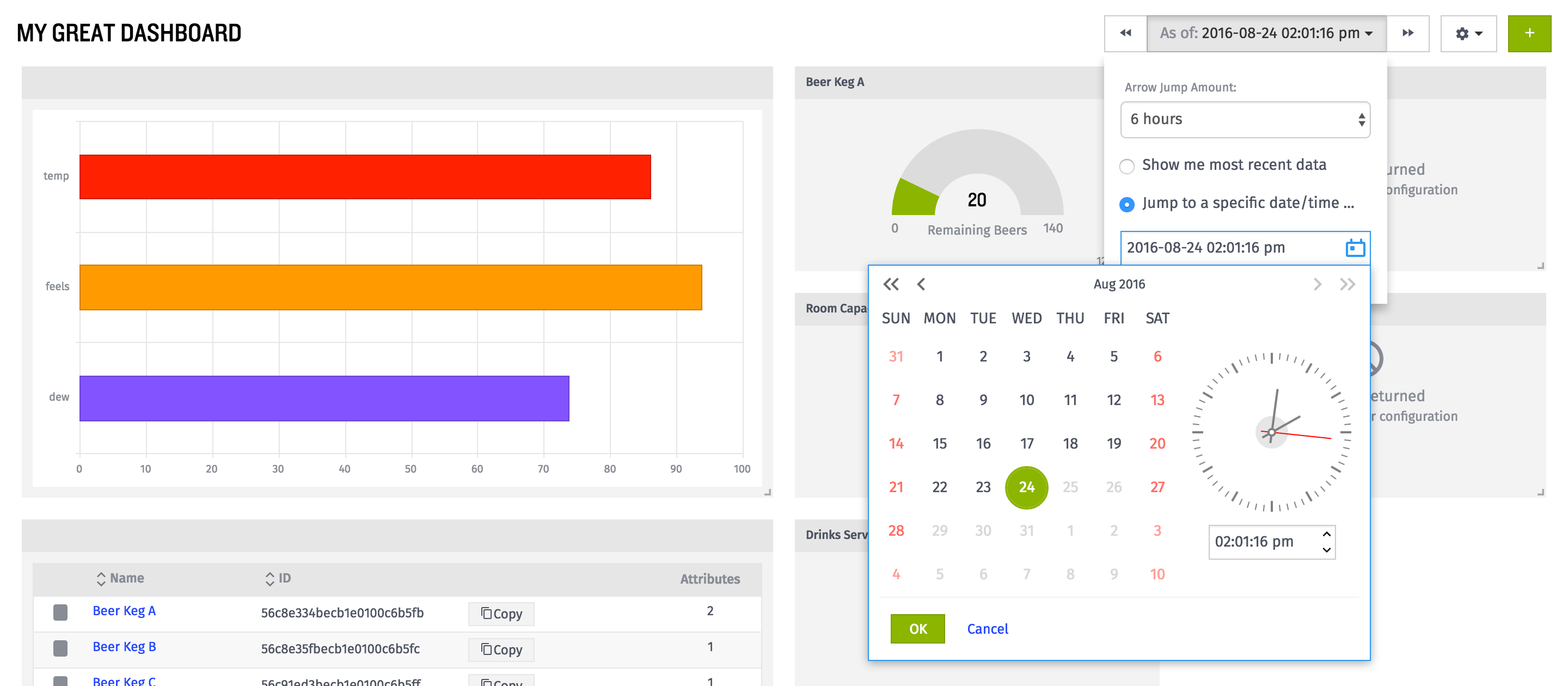 Introducing the Dashboard Time Jumper and a Gallimaufry of Other Improvements