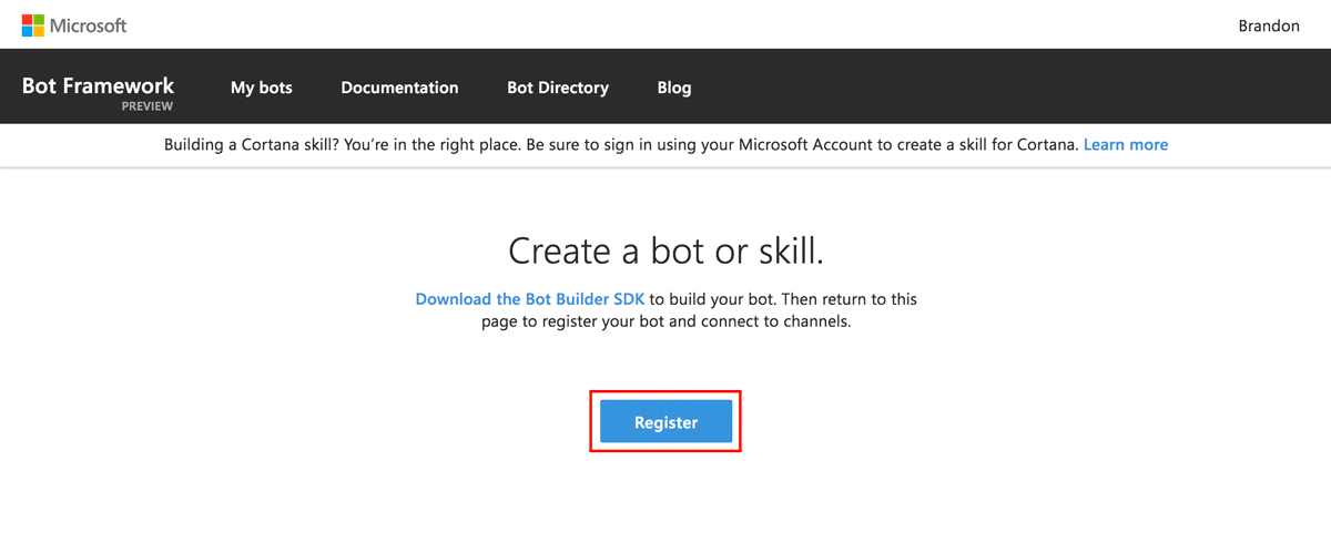 How to register a bot
