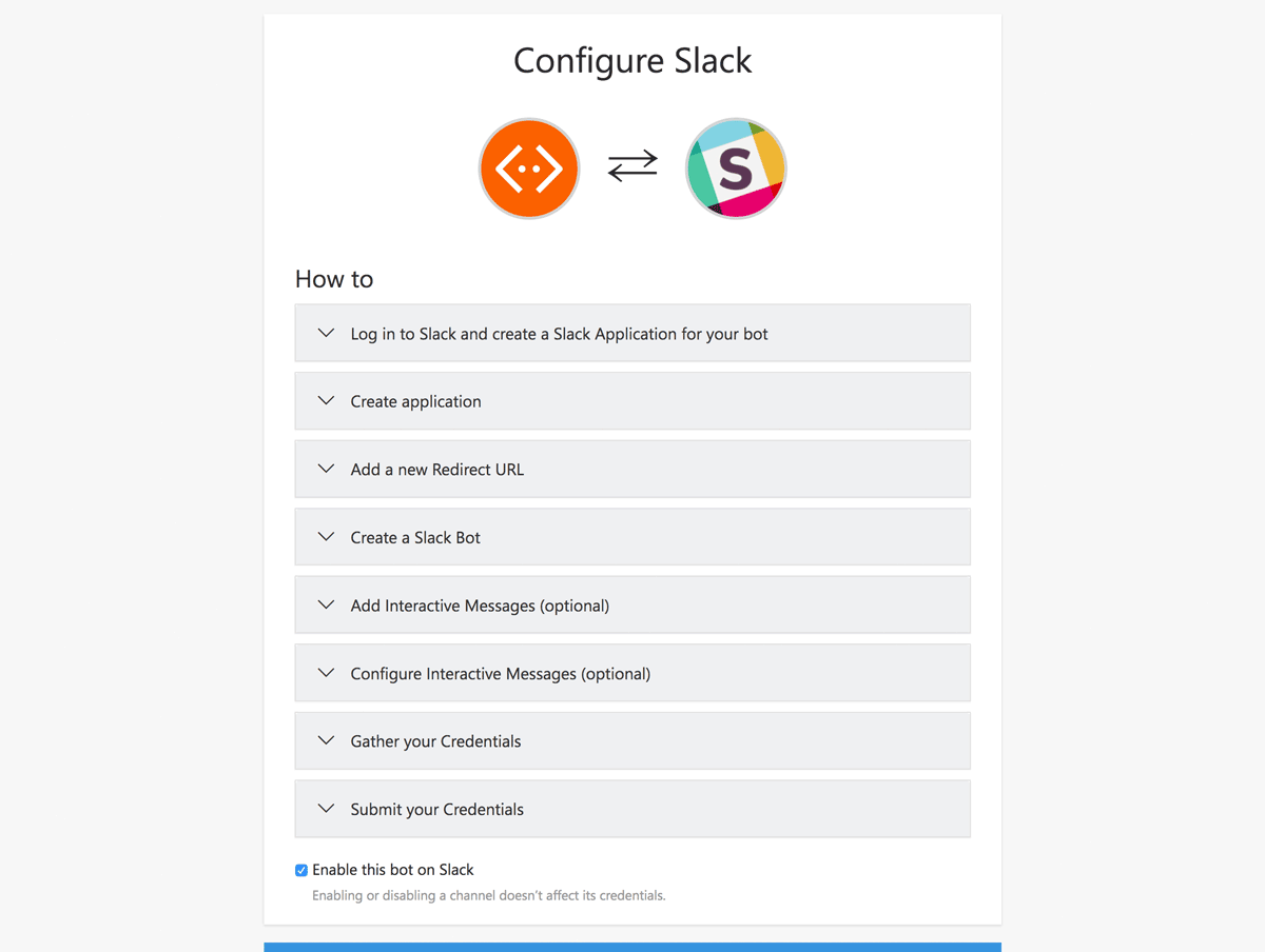 Slack configuration with a step-by-step guide