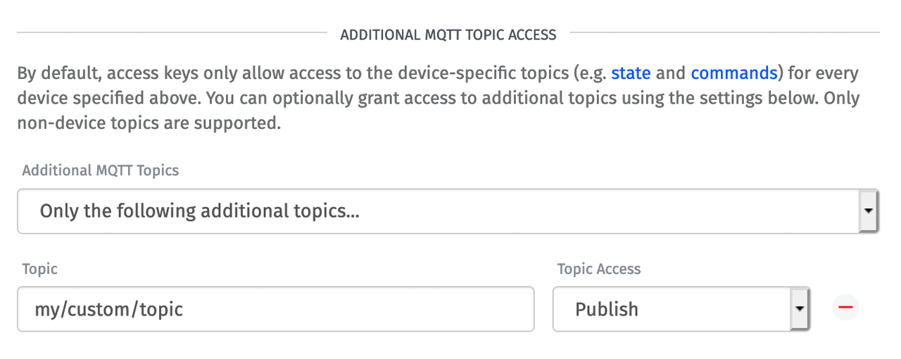 Losant Access Keys Additional Topics