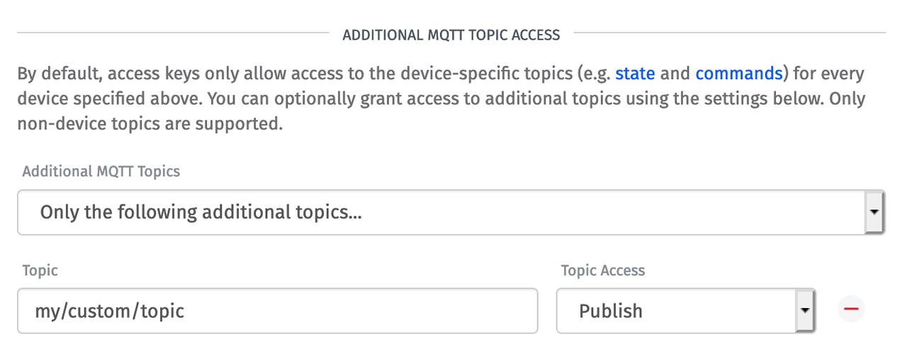 Losant Access Keys Additional Topics