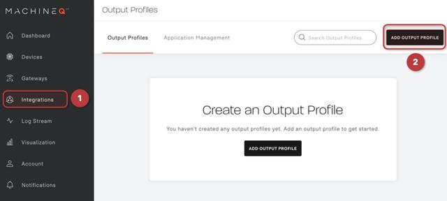 Add Output Profile on MachineQ