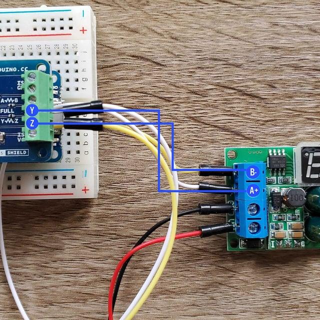 Arduino RS-485 Half-Duplex Wiring Diagram