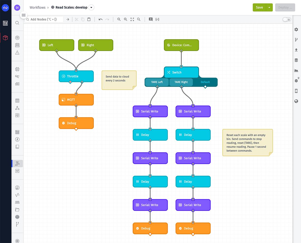 Losant Edge Workflow