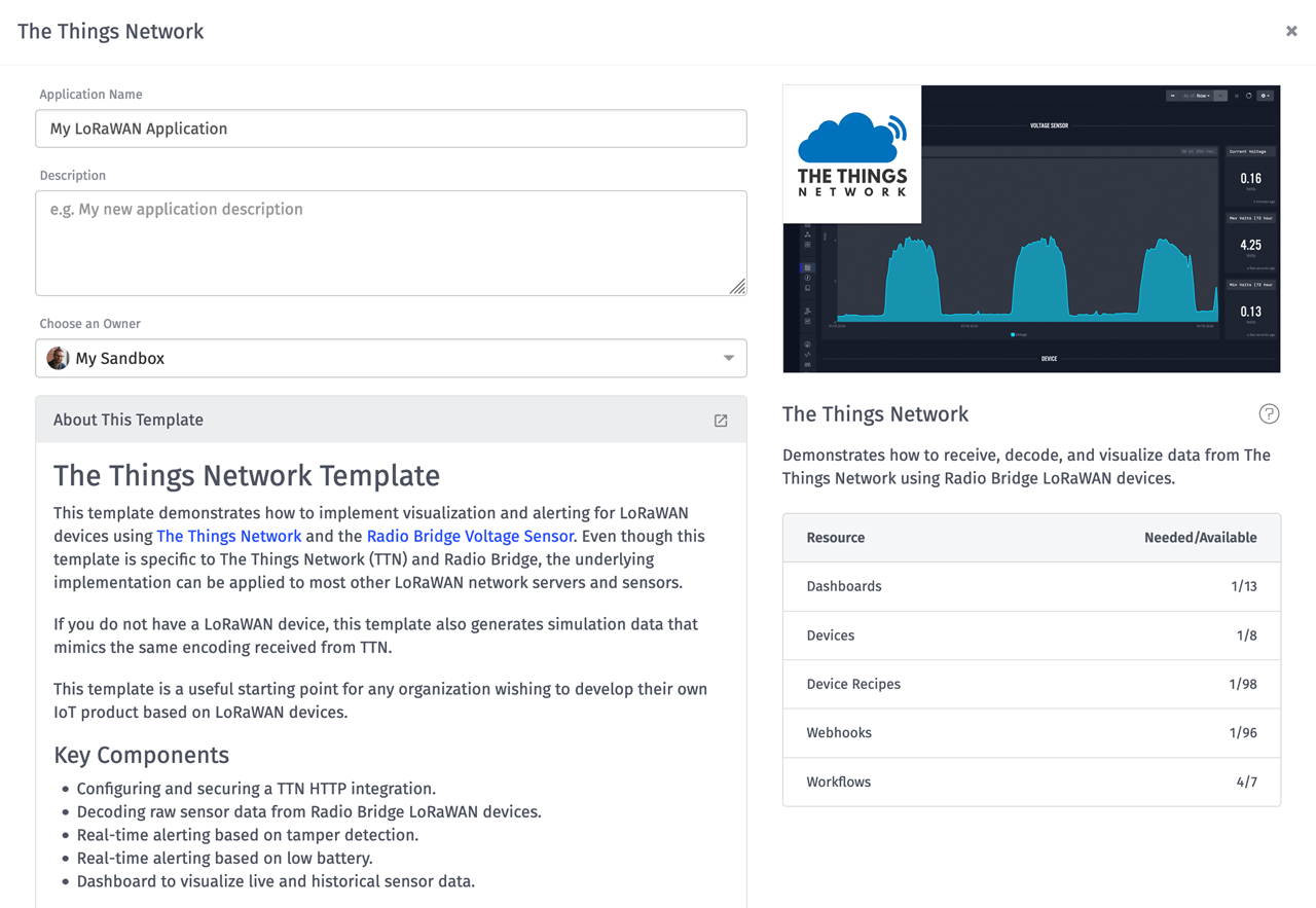 The Things Network Losant Application Template