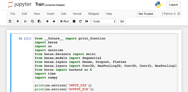 Example of a Jupyter Notebook