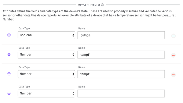 Selecting Device Attributes in the Losant IoT platform