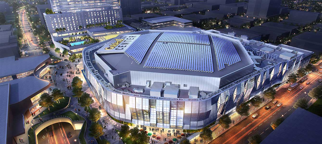 Golden 1 stadium center in Sacramento, CA