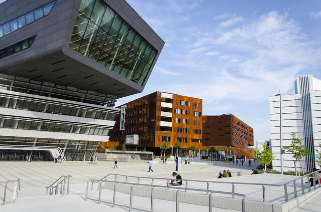 outside view of a modern campus