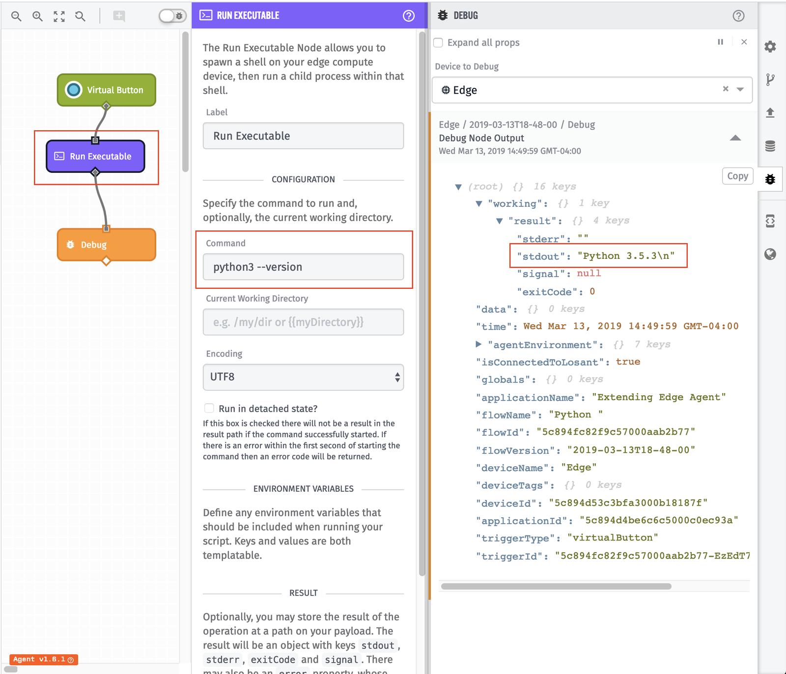 Python 3 example workflow