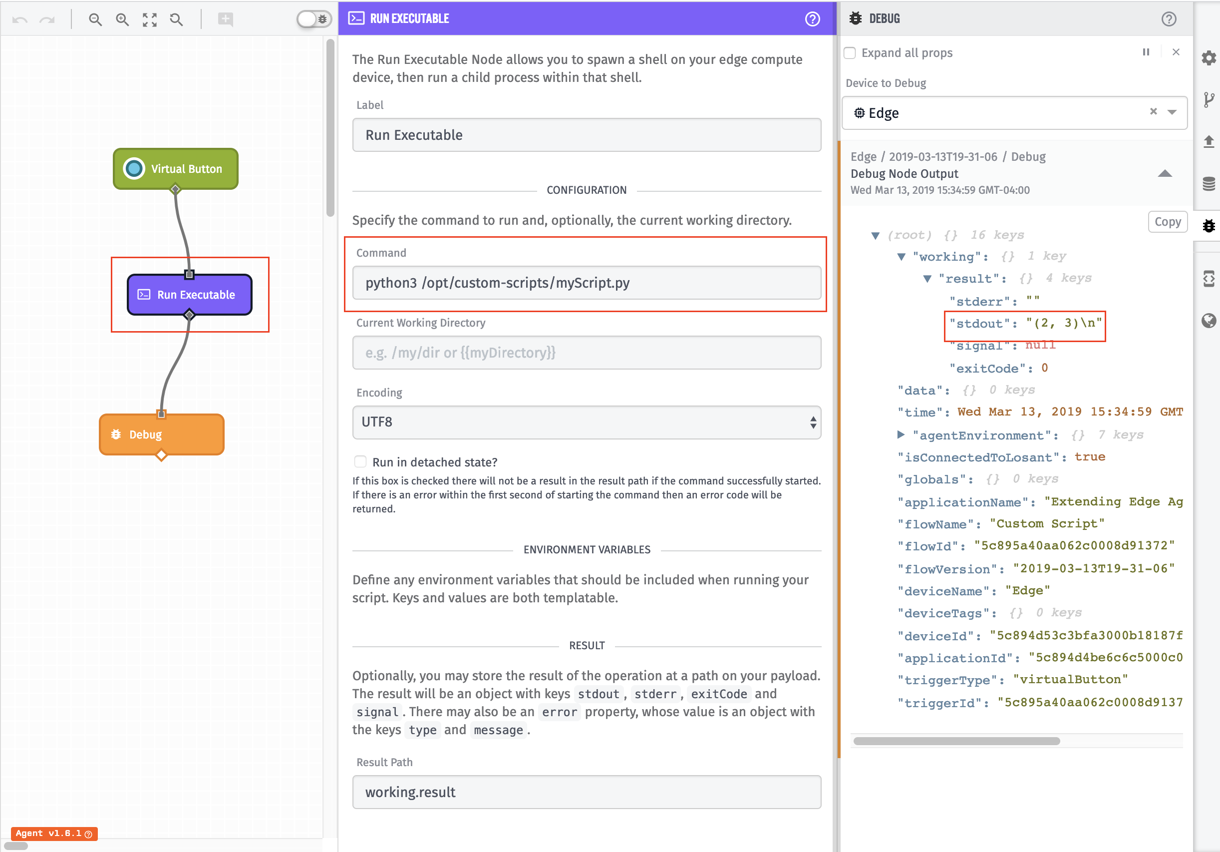 Custom Scripts Example Workflow