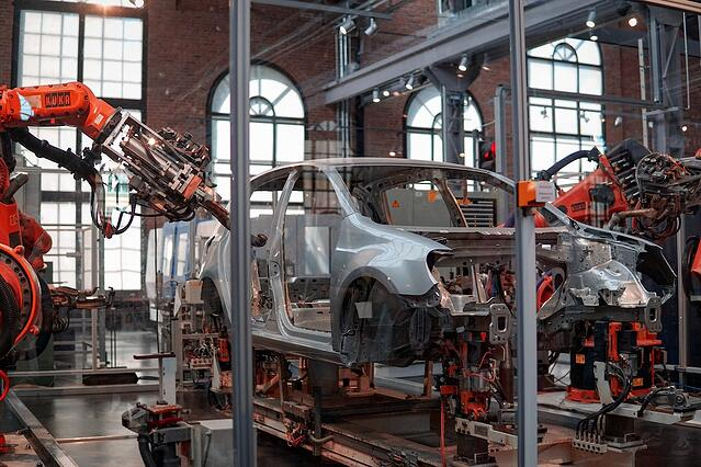 Car on automated assembly line