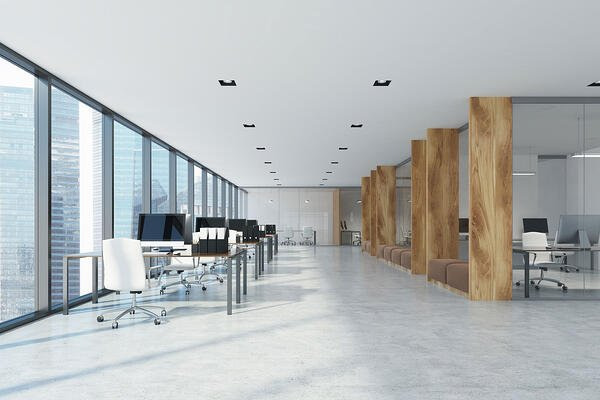 Inside view of a smart office