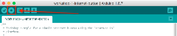 Arduino Upload Button