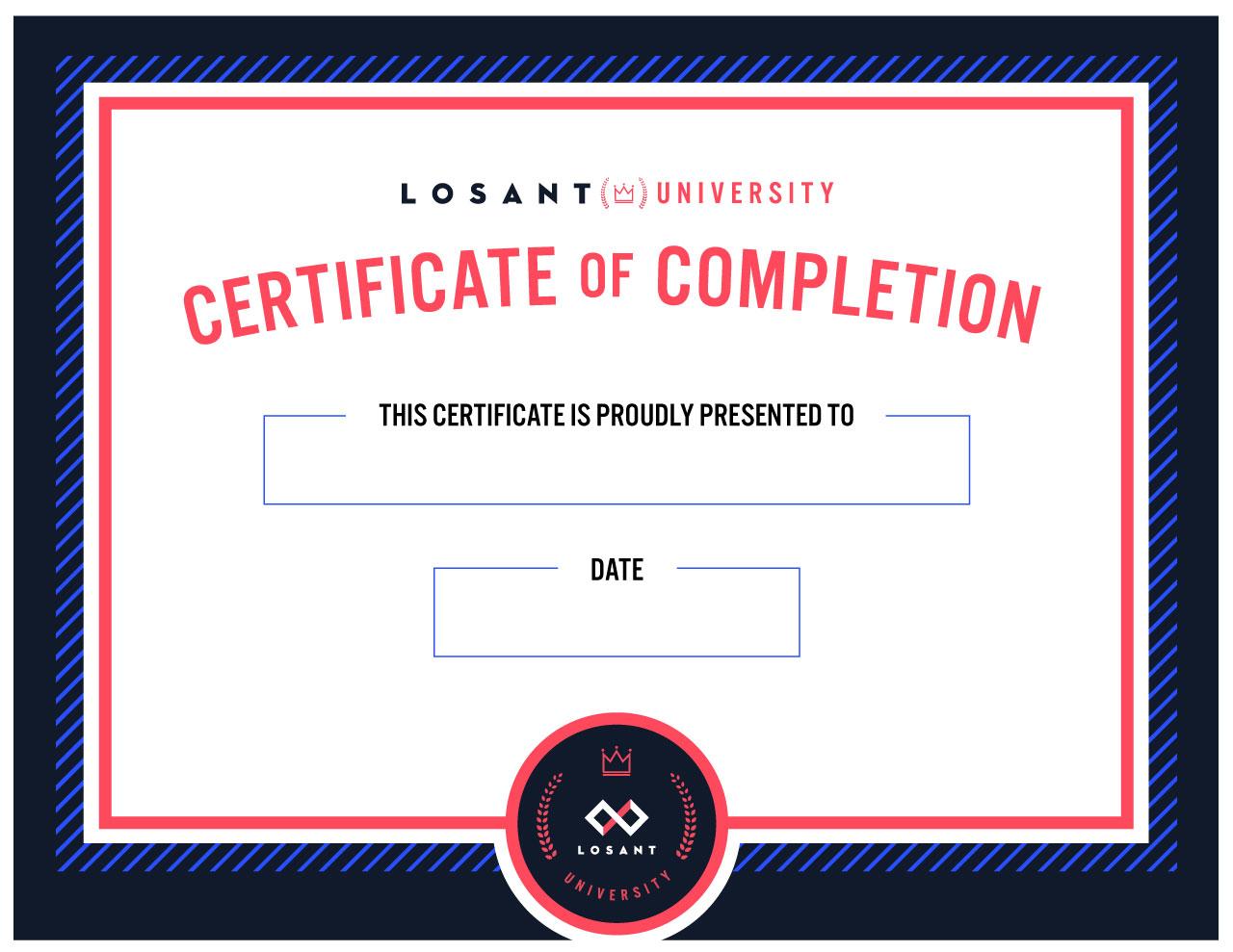 Losant University Certificate