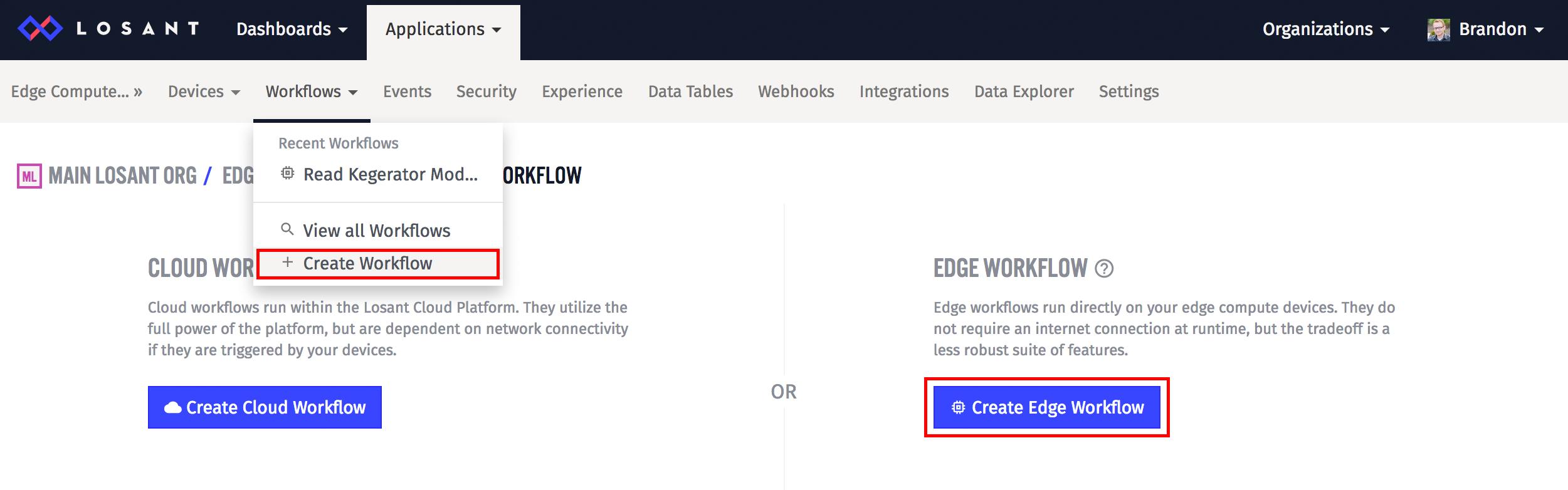 Create Edge Workflow