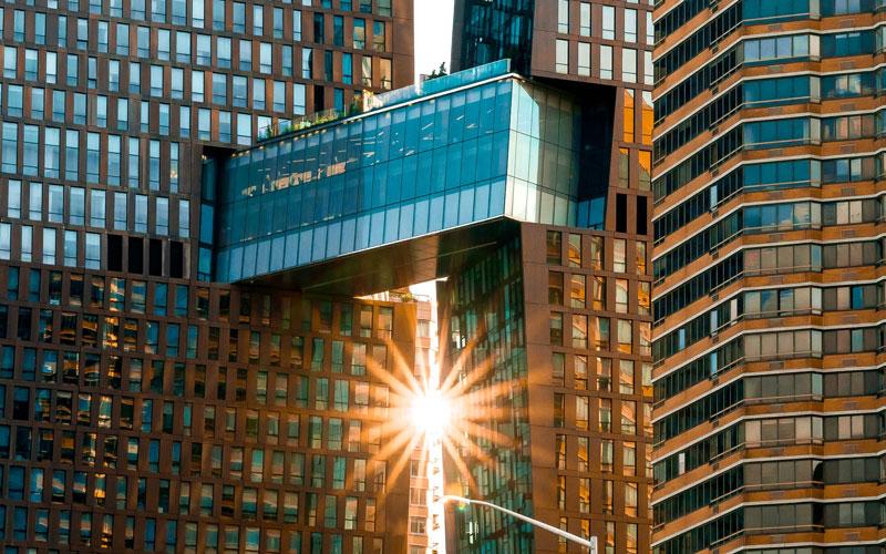 Connected-building-skyscraper-sunlight
