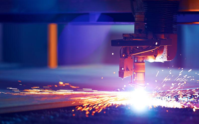machine creating sparks