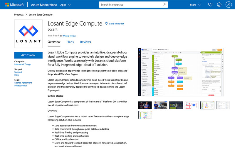Azure Marketplace Losant Edge Compute