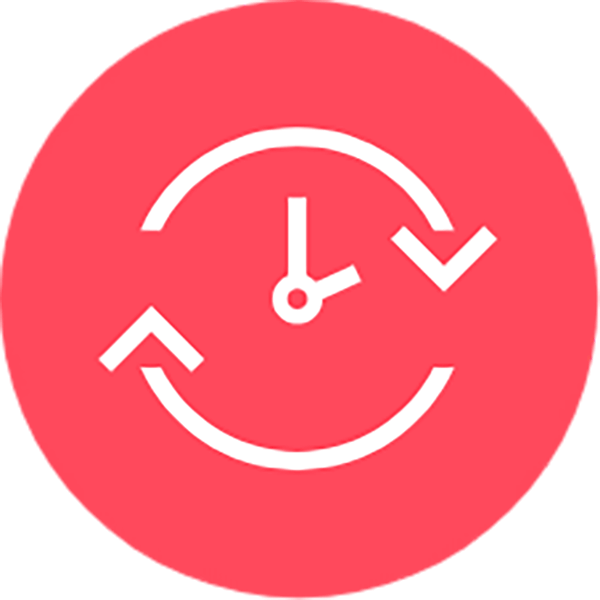 Flexible red icon