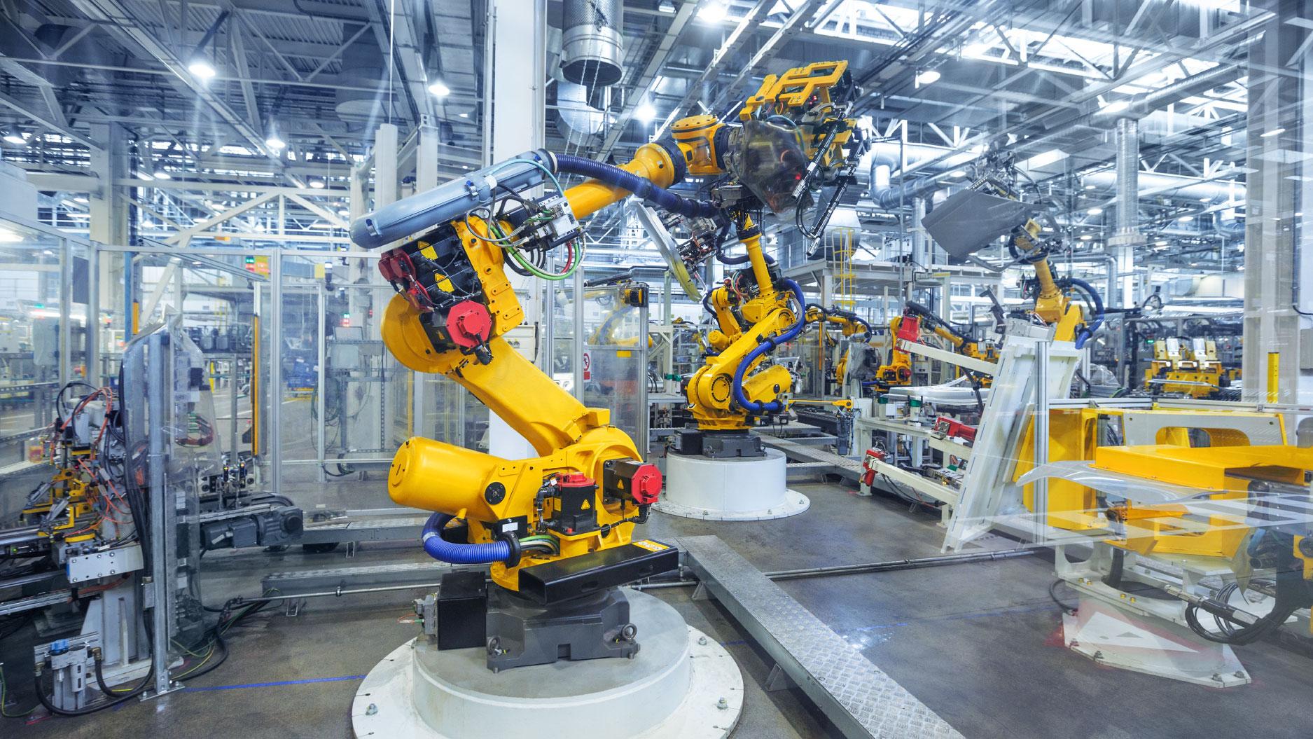 Yellow-Industrial-Equipment-warehouse